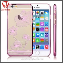 designer cell phone cases wholesale cover/new style clear plastic mobile cover plating case for phone 6