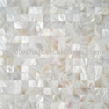 25*25mm nil gap chinese river mother of pearl shell mosaic backing net,shell tile on mesh