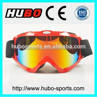 Anti scratch high impact REVO coating dust proof motobike goggles