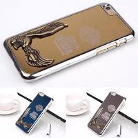 Luxury 3D Eagle Aluminum Metal Chrome Hard Case for iPhone 6