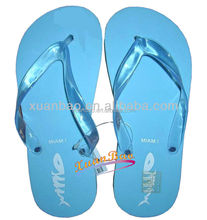 Summer hot sale pvc strap beach style sole with logo color jelly slipper