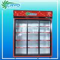 Refrigerador de 3 puertas 1000l 220v para Pepsi, bebidas frías energética, vino, bebidas que requieran estar en vertical, cerveza