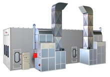 Water Base Spray Booth(CE, 2 years warranty time,spray booth professional manufacturer)