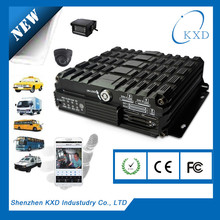 KXD Manufacturer GPS tracking 4CH HDD dvr for car with hdd, 3G card dvr