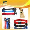 Simple Convenience Style Nylon Adjustable Soft Fabric Pet Dog Puppy Collar With Buckle And Clip Lead Leash