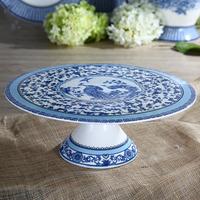 11 Inches New Bone China Blue and White Cake Stand