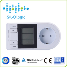 Electric smart wireless power meter socket with lcd display
