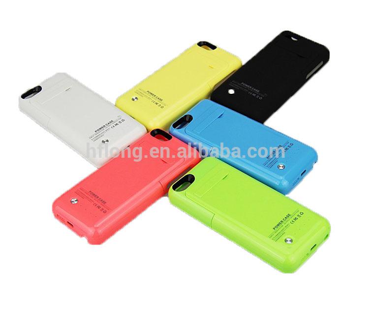 Plus tard pouriphone 5 chargeur cas de 5/5s/5c 2200 mah. téléphone boîtier de la batterie
