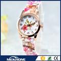 Vogue flor imagem assista mulher / pulso fotos de moda relógio para a mulher