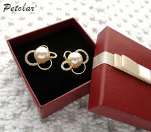 new style customized earring boxes with bowknot