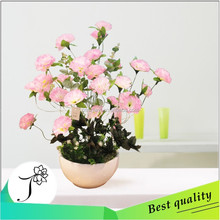 2015 high quality silk flower manufacture artificial carnation flower for mother day
