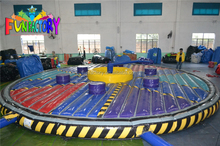 hot sale inflatable wipeout/inflatable wipeout game/adult sport games inflatable wipeout