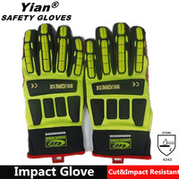 TPR sewing shock proof oil resistant gloves, oil and gas gloves