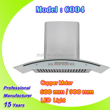 Stainless Steel Wall Mounted Cooker Hood With Copper cooker hood Motor