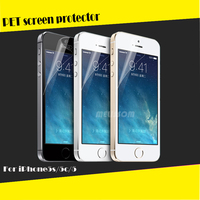 99% Transparent Clear waterproof For mobile phone LCD PET screen protector iPhone 5 5c 5s / screen protector wholesale