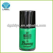 Etiquetas personalizadas para esmalte de uñas botella, de vinilo adhesivo de esmalte de uñas de la etiqueta