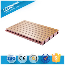 Recording room/studio/music hall used fire insulation material sound absorption product grooved acoustic panel