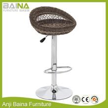 Outdoor furniture rattan bar table and bar stools