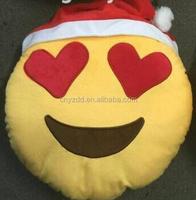 free sample emoji pillow for christmas /stock emoji cushion/handmade christmas pillow