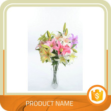 Multicolor greenish lily artificial flowers for home wedding decoration