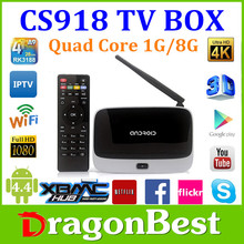 Cheap New Arrival Android 4.2 Quad Core Tv Box Cs918