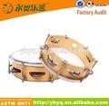 2015 nuevo mundo instrumento musical de corea pandereta de madera contrachapada con conchas de tambor
