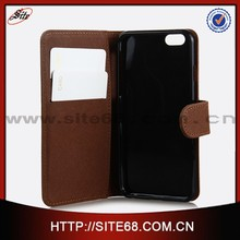 Hot sell with screen protector wallet leather phone case for iphone 6