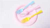 elegant PS disposable Hard Plastic Fork for wedding