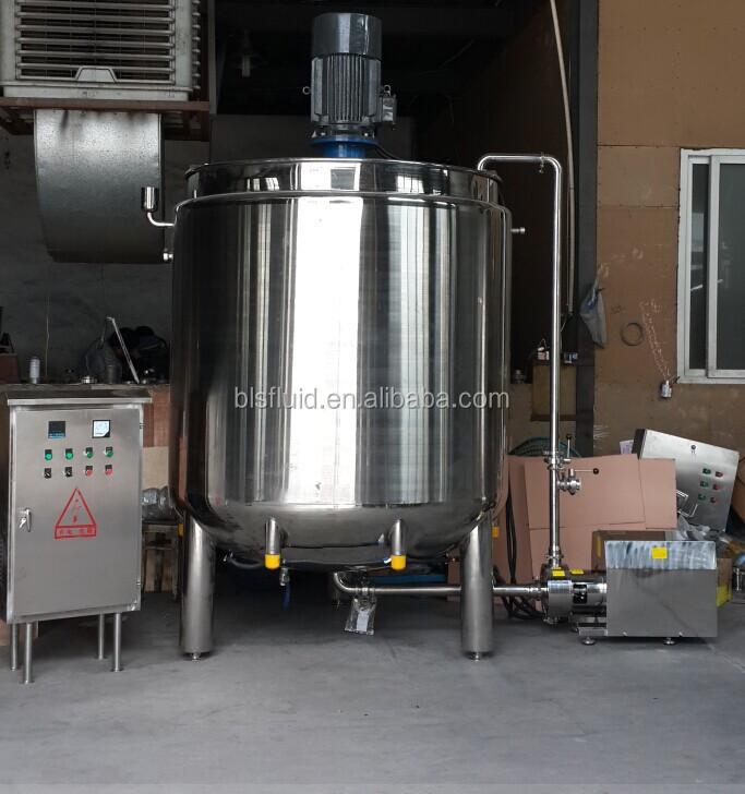 1000L slurry mixing tank, chocolate mixing tank,syrup mixing tank with agitator