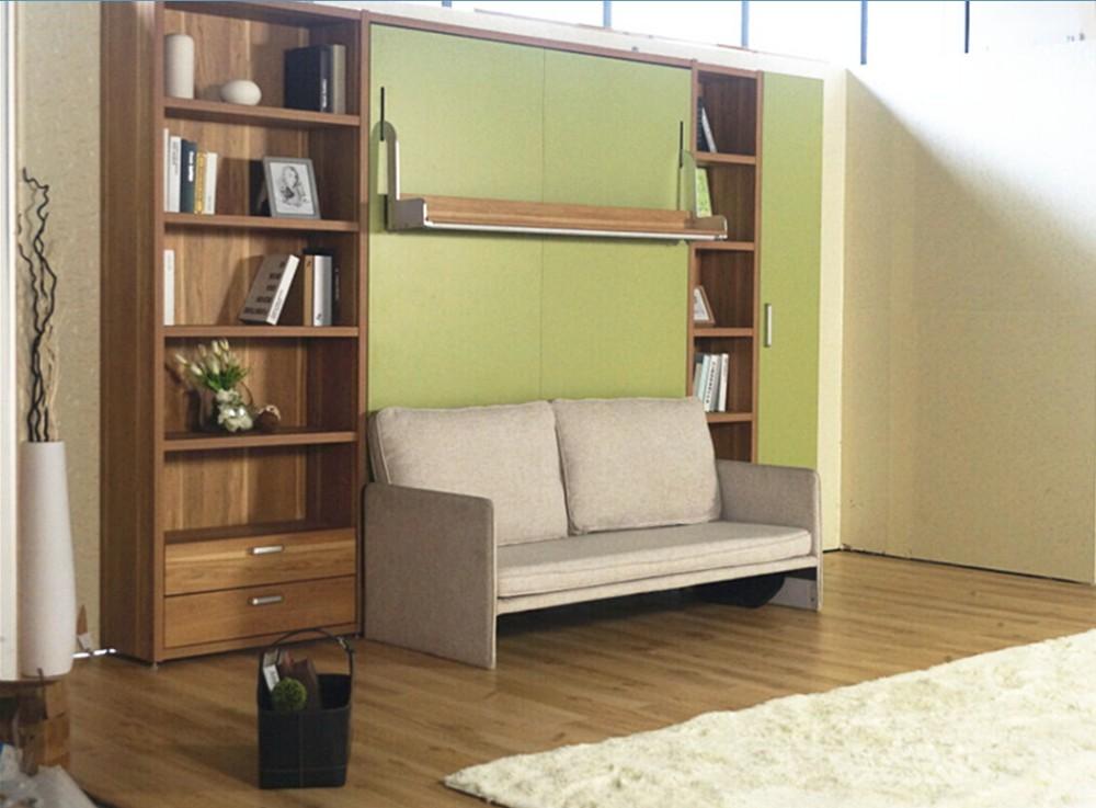 Ahorro de espacio oculto pared cama plegable cama de la pared moderno muebles de ahorro de - Muebles de cama ...