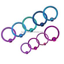 16g Colored Nose Hoop Piercing