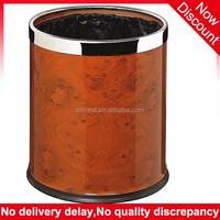 Household product 2015 double layer steel ring fancy waste bin, hotel waste basket