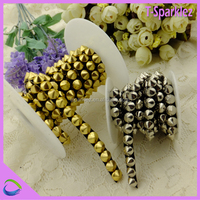 gold silver metal studs chain trim for furniture