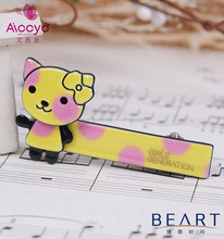Lovely Dog Leopard Printed kids plastic covered bobby pin French Alligator Hair Clip In Kids Hair Accessory