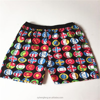 Hot selling 100% polyester boys beach short pants stocks
