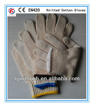 poly cotton gloves bleached white,natural white