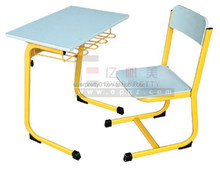 2015 High Quality Kindergarten Furniture Kid's Single Desk & Chair for Nursery
