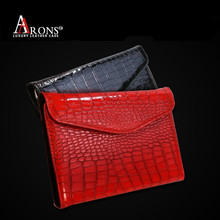Envelope style real croco skin leather case cover for ipad leather case