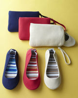 ladies canvas folding flat with canvas bags for colorful shoes 2015