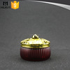 200ml China manufacture claret-red lantern shaped beauty cosmetic jar glass