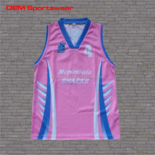 High quality dry fit girl's basketball uniform for school