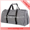 houndstooth full printed gym sports bag beauty gymnastic duffel bag