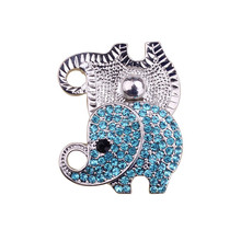 Vnistar elephant shaped exchangable snap charms for bracelets with crystals NC650 wholesale