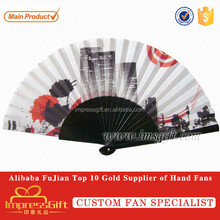 Customise spanish handheld wooden hand fans for gift