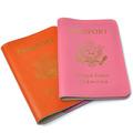 Suave cubierta de cuero del pasaporte