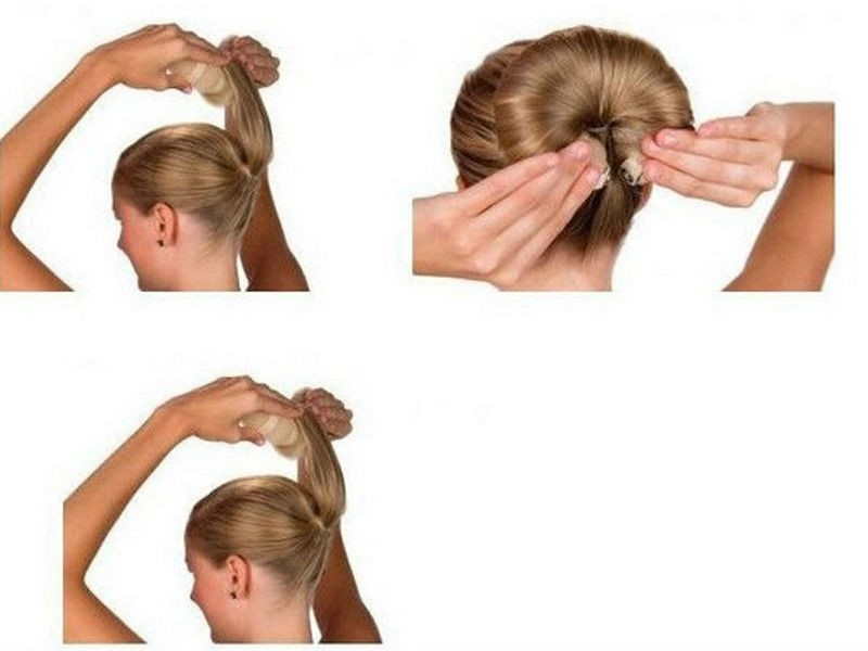 как делать прически с валиком для волос видео