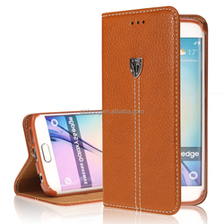 Xundd Genuine Leather Wallet Case For Samsung GALAXY S6,For Samsung Galaxy S6 Case