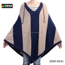 Fashion Hooded Pure Cashmere Woman Knitted Sweater