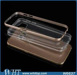 Candy Color Metal Aluminum Bumper TPU Back Cover Case for Samsung Galaxy S6