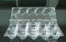Wholesale PVC plastic clear egg tray/high quality and cheap price blister egg tray with cover